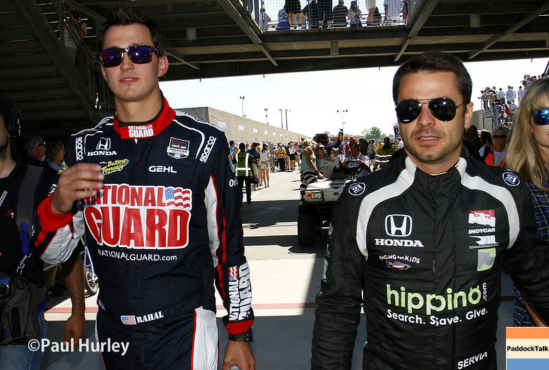 May 25: Graham Rahal and Oriol Servia before the 98th Indianapolis 500.