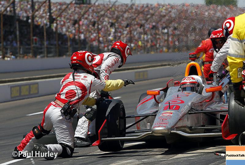 May 25: Tony Kanaan during the 98th Indianapolis 500.