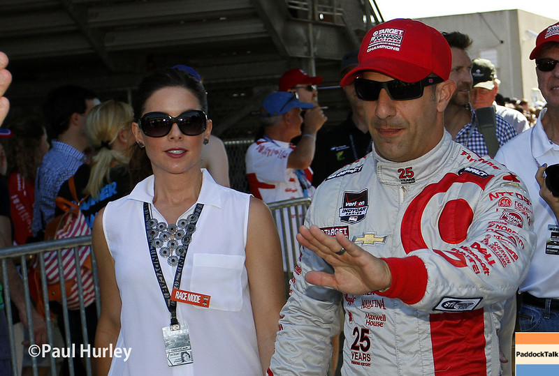 May 25: Tony and Lauren Kanaan before the 98th Indianapolis 500.