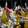 May 25: Ryan Hunter-Reay and crew after the 98th Indianapolis 500.