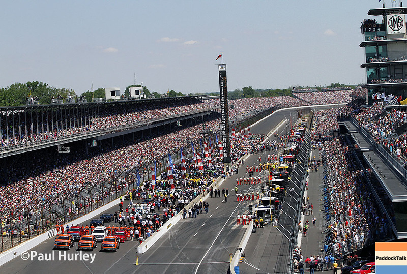 May 25: Cars on the grid before the 98th Indianapolis 500.