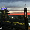 May 25: Sunrise at the track before the 98th Indianapolis 500.