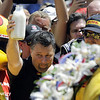 May 25: Michael Andretti after the 98th Indianapolis 500.