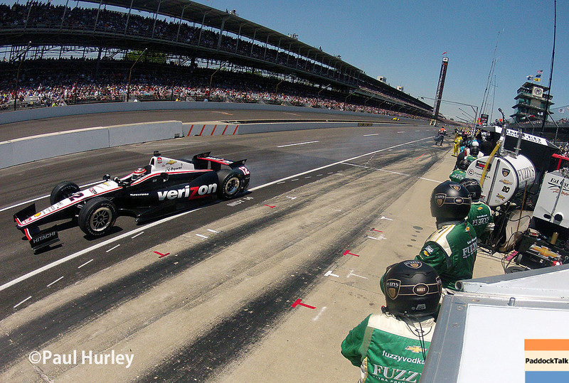May 25: Will Power during the 98th Indianapolis 500.