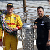 May 26: Ryan Hunter-Reay and Michael Andretti after the 98th Indianapolis 500.