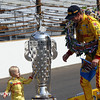 May 26: Ryden and Ryan Hunter-Reay after the 98th Indianapolis 500.