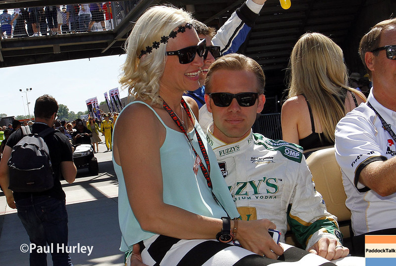 May 25: Ed and Heather Carpenter before the 98th Indianapolis 500.