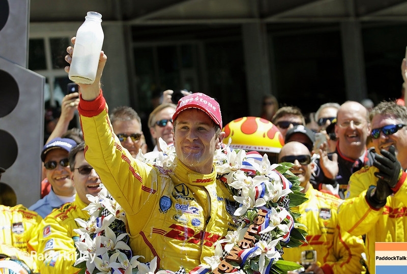 May 25: Ryan Hunter-Reay after winning the 98th Indianapolis 500.