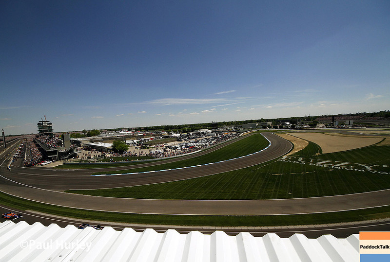 May 25: View of the south end of the Track before the 98th Indianapolis 500.