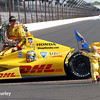 May 26: Ryan and Ryden Hunter-Reay after winning the 98th Indianapolis 500.