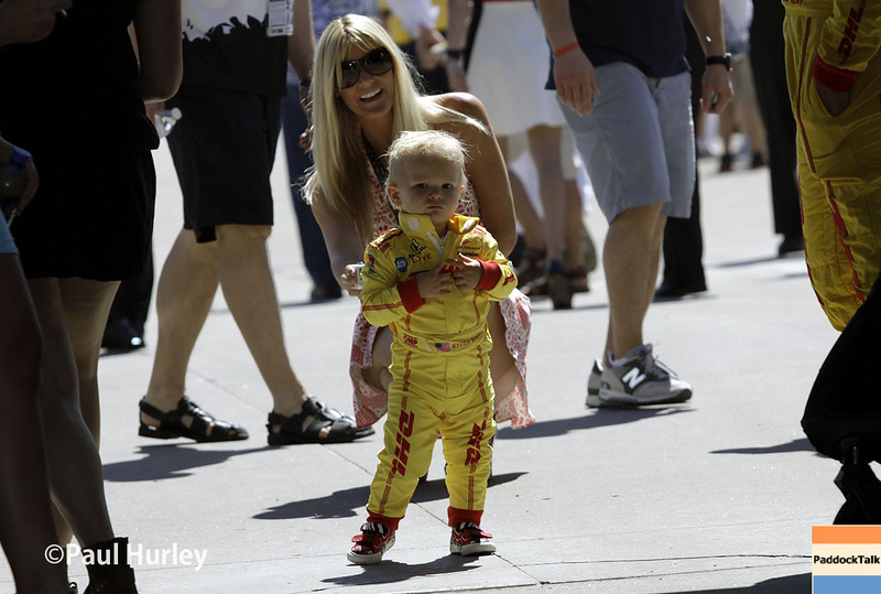May 25: Becci and Ryden Hunter-Reay before the 98th Indianapolis 500.