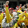 May 25: Ryan Hunter-Reay and crew celebrating after the 98th Indianapolis 500.