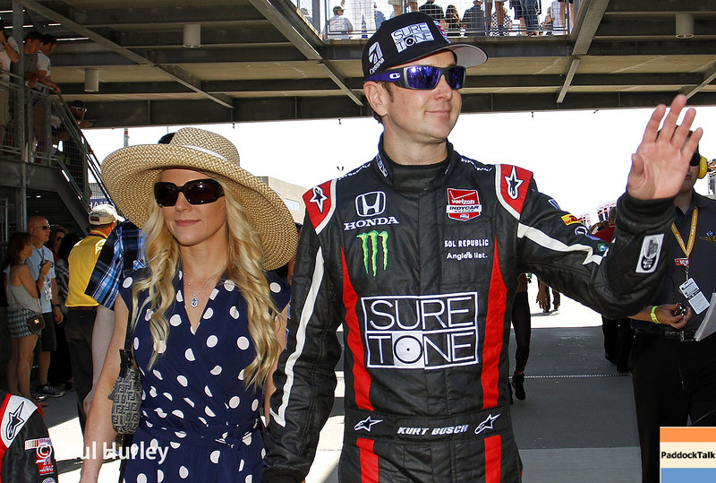 May 25: Kurt Busch before the 98th Indianapolis 500.