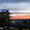 May 25: Sunrise over the pagoda before the 98th Indianapolis 500.