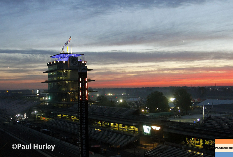 May 25: The track at sunrise before the 98th Indianapolis 500.