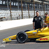 May 26: Michael Andretti and Ryan Hunter-Reay after the 98th Indianapolis 500.
