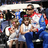 May 25: Justin Wilson and his girls before the 98th Indianapolis 500.