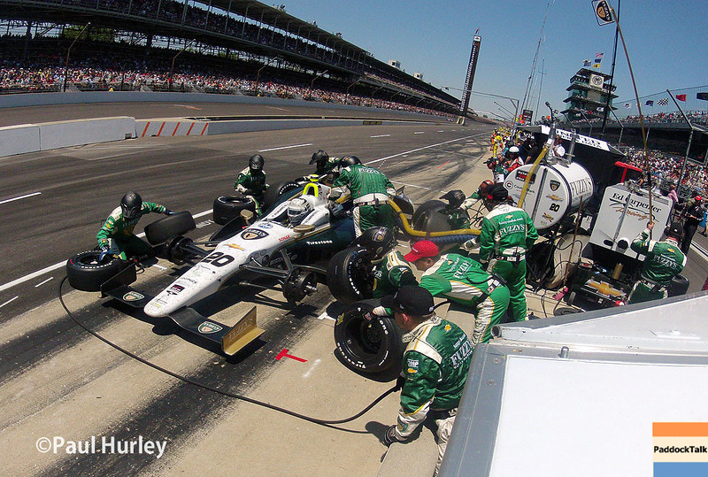 May 25: Ed Carpenter during the 98th Indianapolis 500.