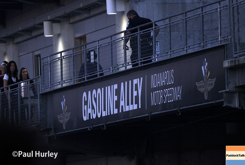 May 25: Gasoline Alley before the 98th Indianapolis 500.