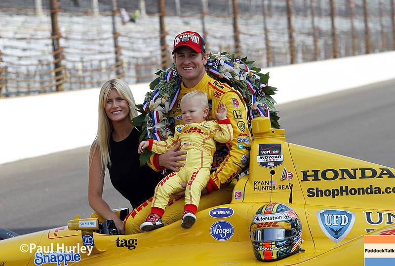 May 26: Becci, Ryan and Ryden Hunter-Reay after the 98th Indianapolis 500.