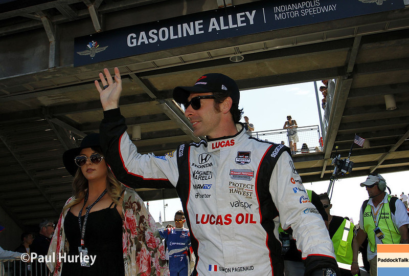 May 25: Simon Pagenaud before the 98th Indianapolis 500.