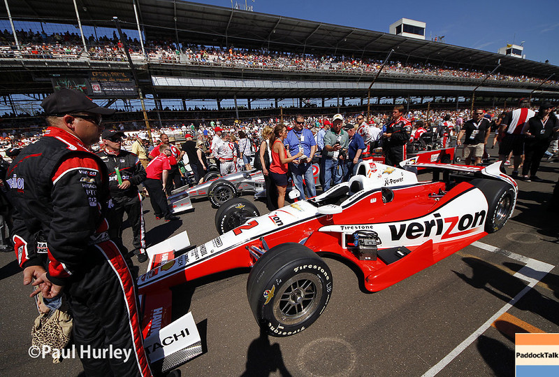 May 25: Will Power's car on the grid before the 98th Indianapolis 500.