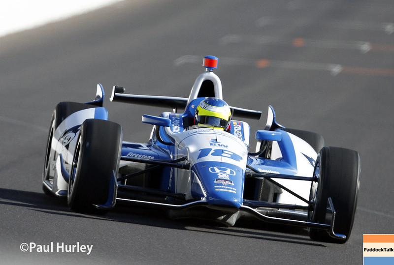 May 18:  Justin Wilson during qualifications for the Indianapolis 500.