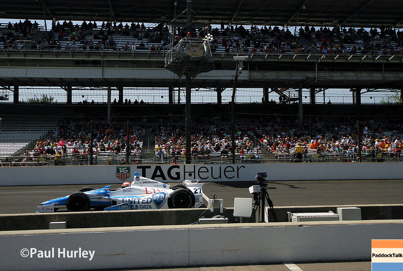 May 18:  James Hinchcliffe during qualifications for the Indianapolis 500.