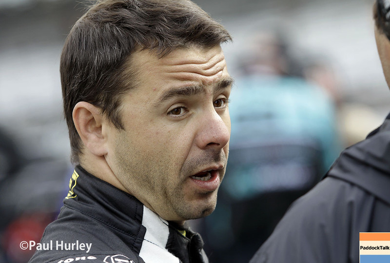 May 17: Oriol Servia during qualifications for the Indianapolis 500.
