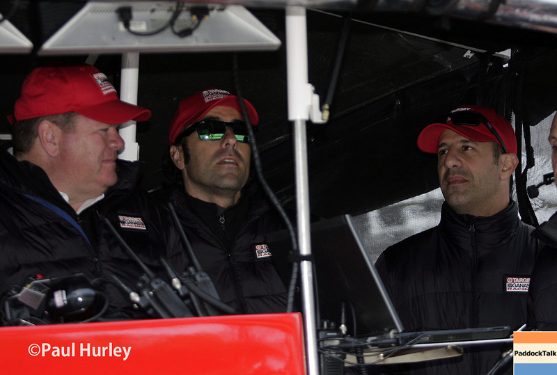 May 17:  Chip Ganassi, Dario Franchitti and Tony Kanaan during qualifications for the Indianapolis 500.