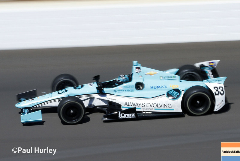 May 23: James Davison during qualifications for the 98th Indianapolis 500.