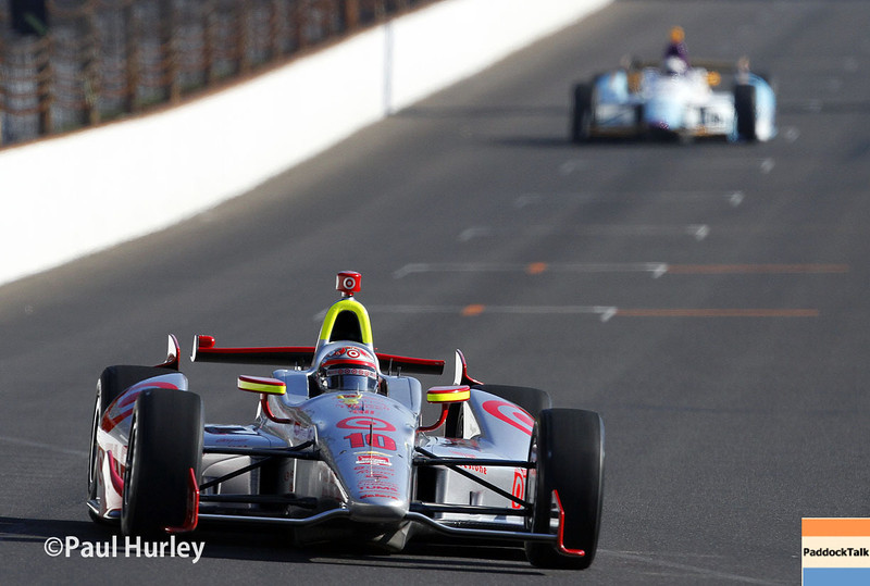 May 18:  Tony Kanaan during qualifications for the Indianapolis 500.