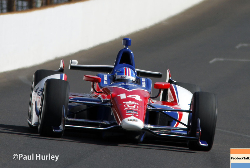 May 17: Takuma Sato during qualifications for the Indianapolis 500.