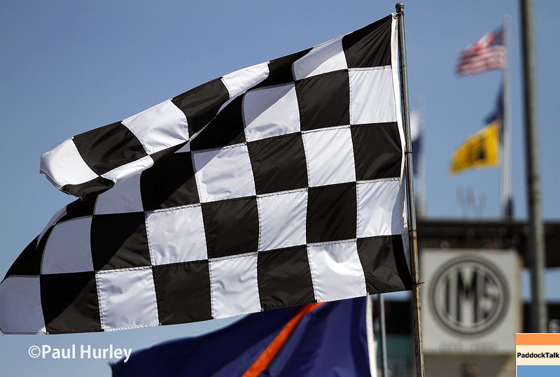 May 23: The flags and pagoda during qualifications for the 98th Indianapolis 500.