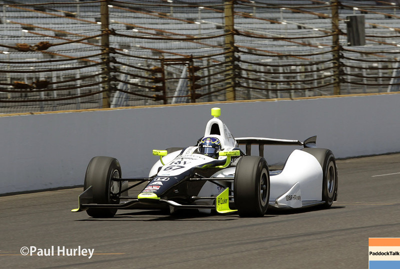May 18: Josef Newgarden during qualifications for the Indianapolis 500.
