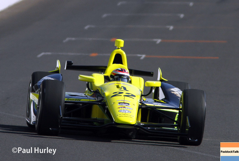 May 17:  Sage Karam during qualifications for the Indianapolis 500.