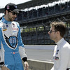 May 18:  James Hinchcliffe and Will Power during qualifications for the Indianapolis 500.