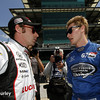 May 18:  Simon Pagenaud and Josef Newgarden during qualifications for the Indianapolis 500.