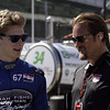 May 23: Josef Newgarden and Beau Barfield during qualifications for the 98th Indianapolis 500.