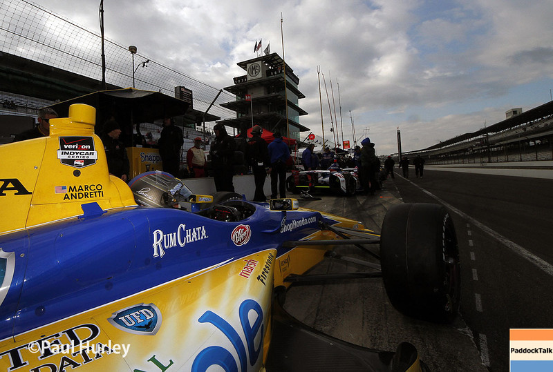 May 17:  Marco Andretti during qualifications for the Indianapolis 500.