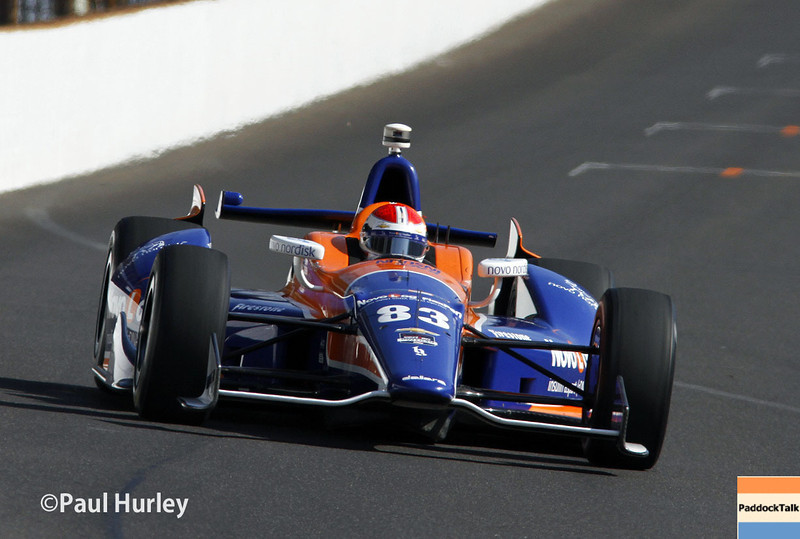 May 17: Charlie Kimball during qualifications for the Indianapolis 500.