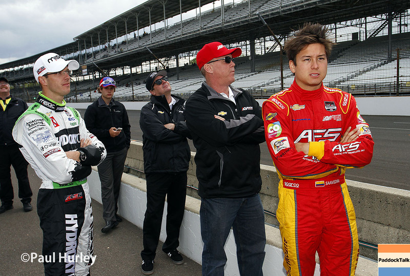 May 17:  Patiently waiting during qualifications for the Indianapolis 500.