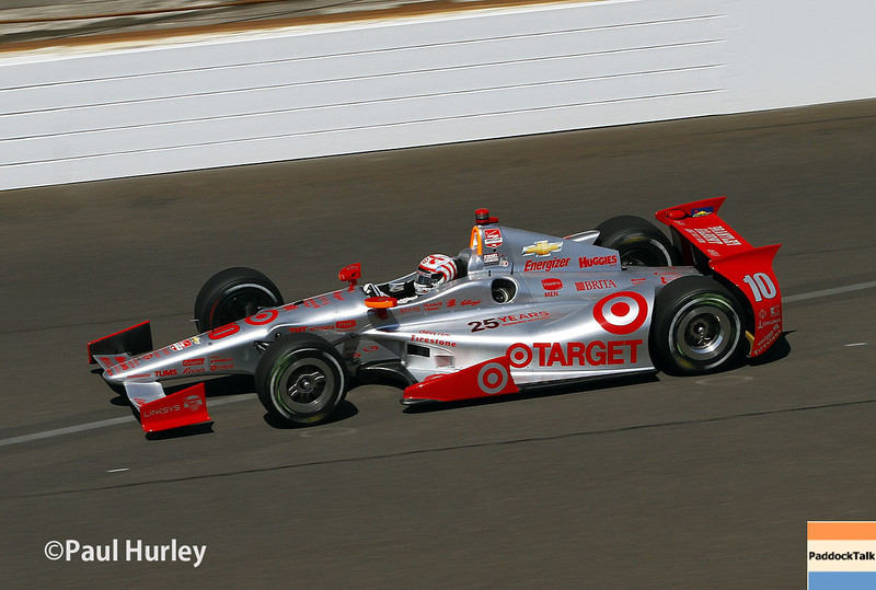 May 23: Tony Kanaan during qualifications for the 98th Indianapolis 500.