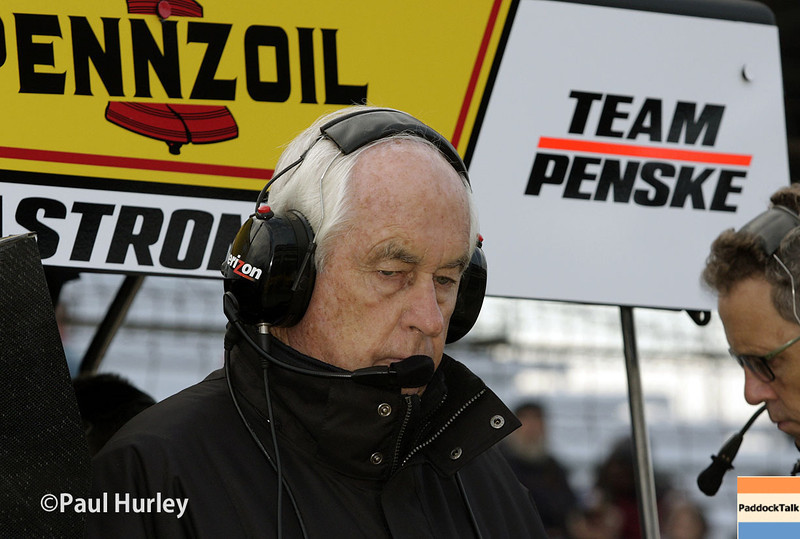 May 17:  Roger Penske during qualifications for the Indianapolis 500.