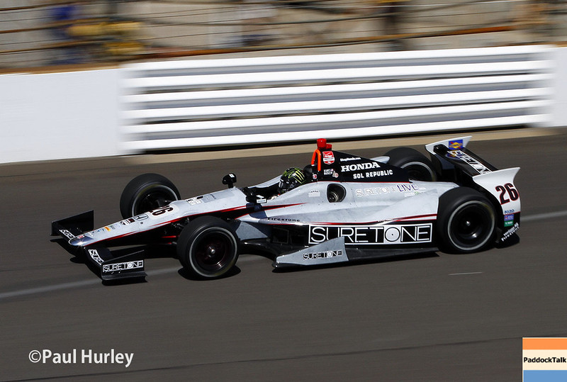 May 23: Kurt Busch during qualifications for the 98th Indianapolis 500.