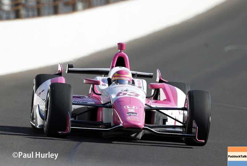 May 18:  Pippa Mann during qualifications for the Indianapolis 500.
