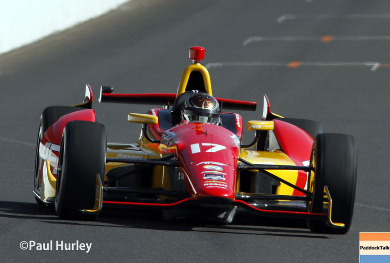 May 17:  Sebastian Saavedra during qualifications for the Indianapolis 500.