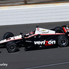 May 23: Will Power during qualifications for the 98th Indianapolis 500.