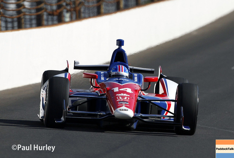 May 18:  Takuma Sato during qualifications for the Indianapolis 500.