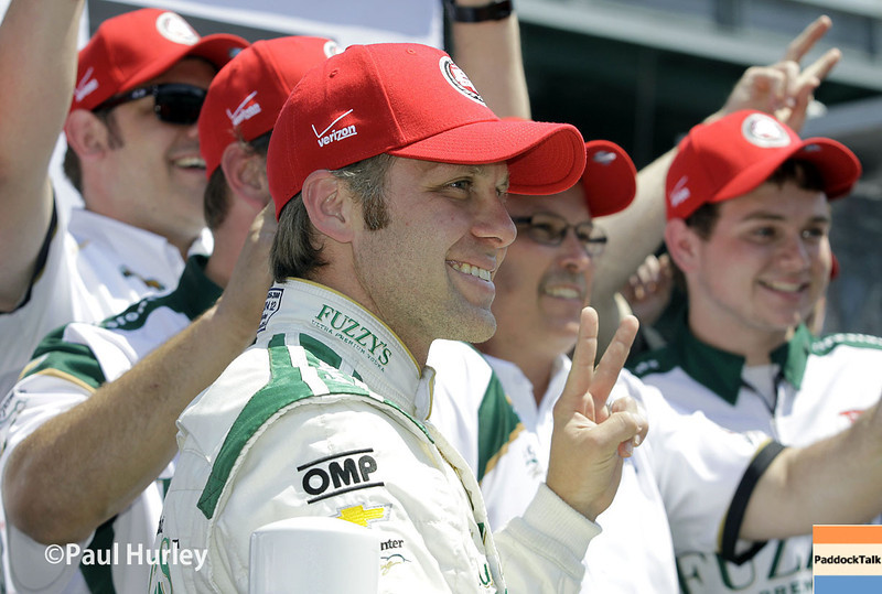 May 18:  Ed Carpenter after qualifications for the Indianapolis 500.